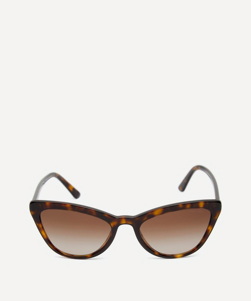 Prada - Oversized Acetate Cat-Eye Tortoiseshell Sunglasses