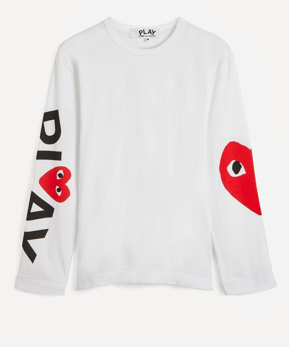 Comme des Garçons Play - Heart Logo Arm Long Sleeve T-Shirt