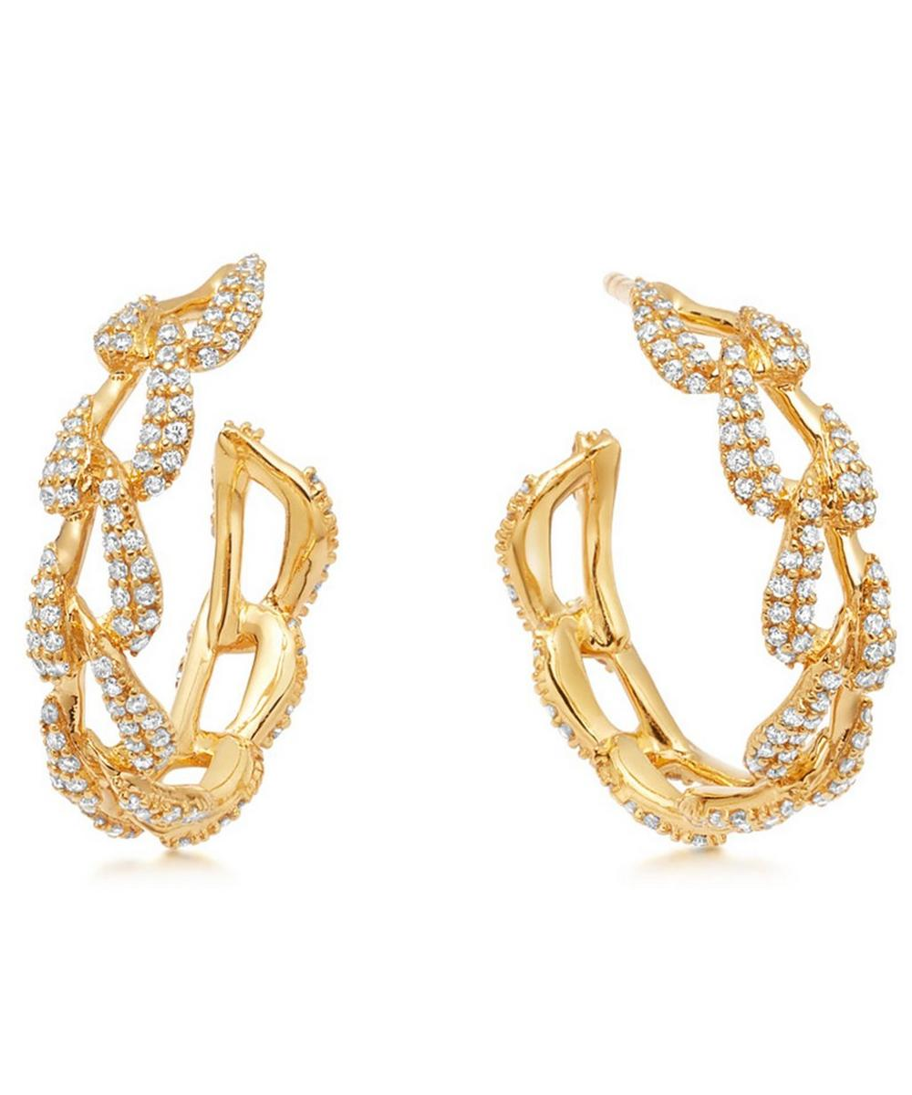 Astley Clarke - Gold Vela Diamond Hoop Earrings