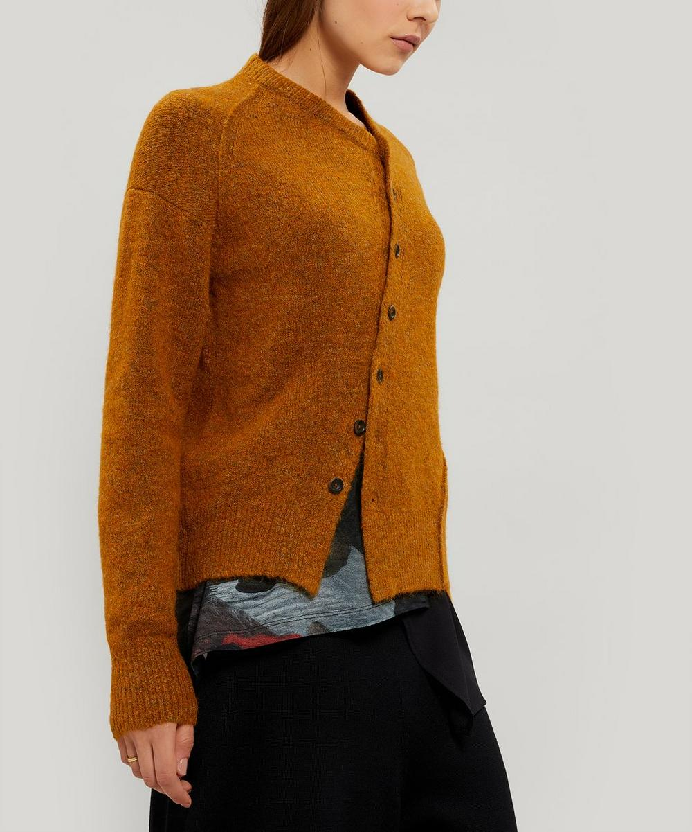 Crea Concept - Diagonal Button-Up Knitted Cardigan