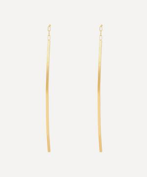 Gold Linear Curve Drop Earrings
