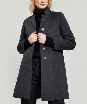 Classic Single-Breasted Wool Coat