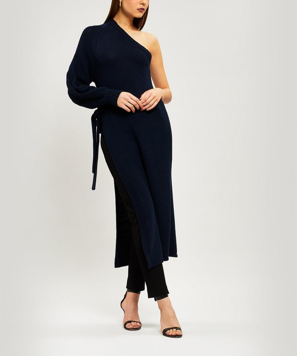 Rosetta Getty - One-Shoulder Knitted Tunic