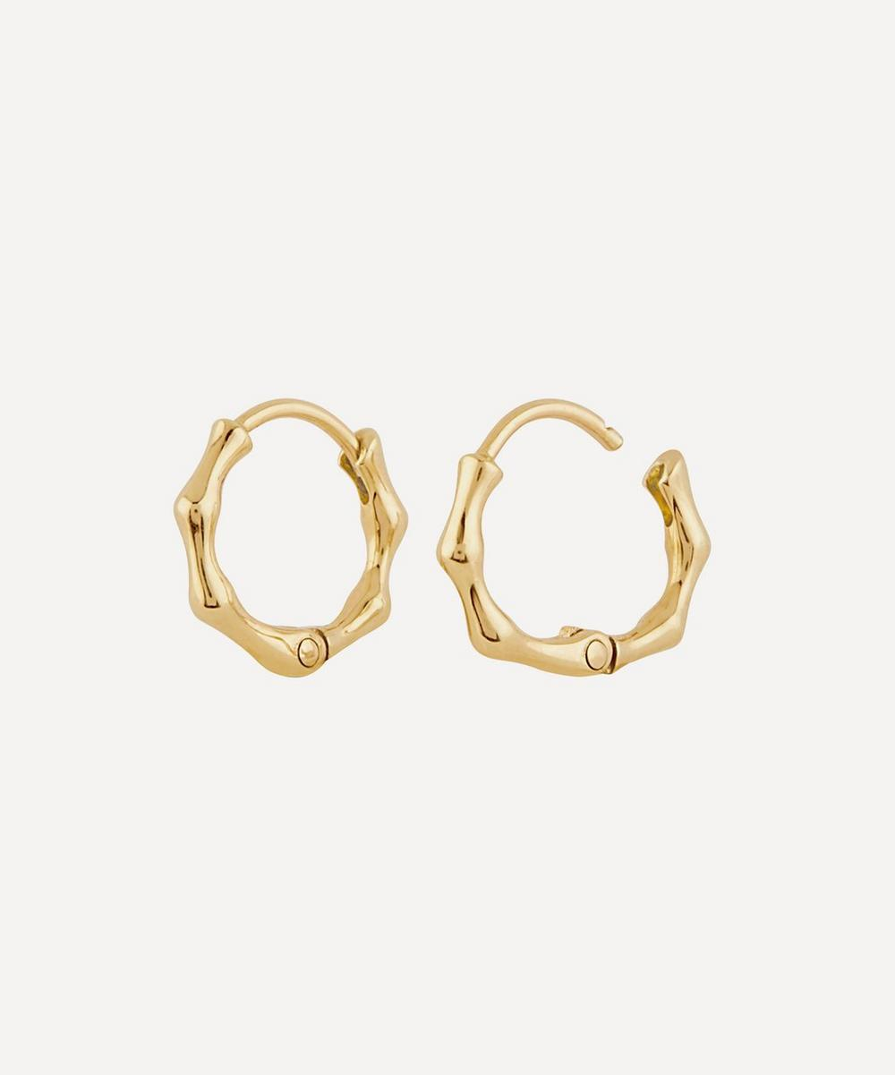 Dinny Hall - 10ct Gold Bamboo Mini Hoop Earrings
