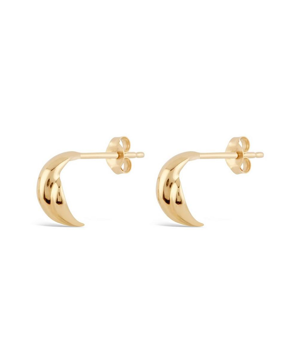 Dinny Hall - 10ct Gold Twist Micro Hoop Earrings