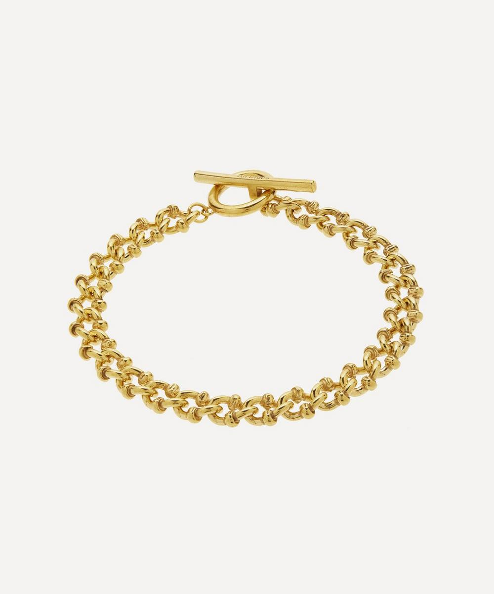 All Blues - Gold Plated Vermeil Silver DNA Bracelet