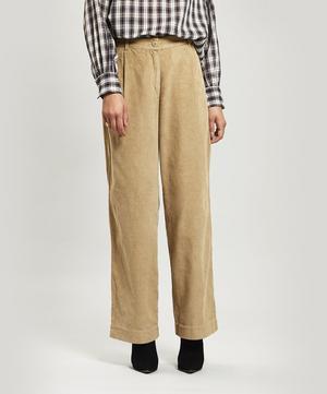 Long Wide-Leg Cord Trousers