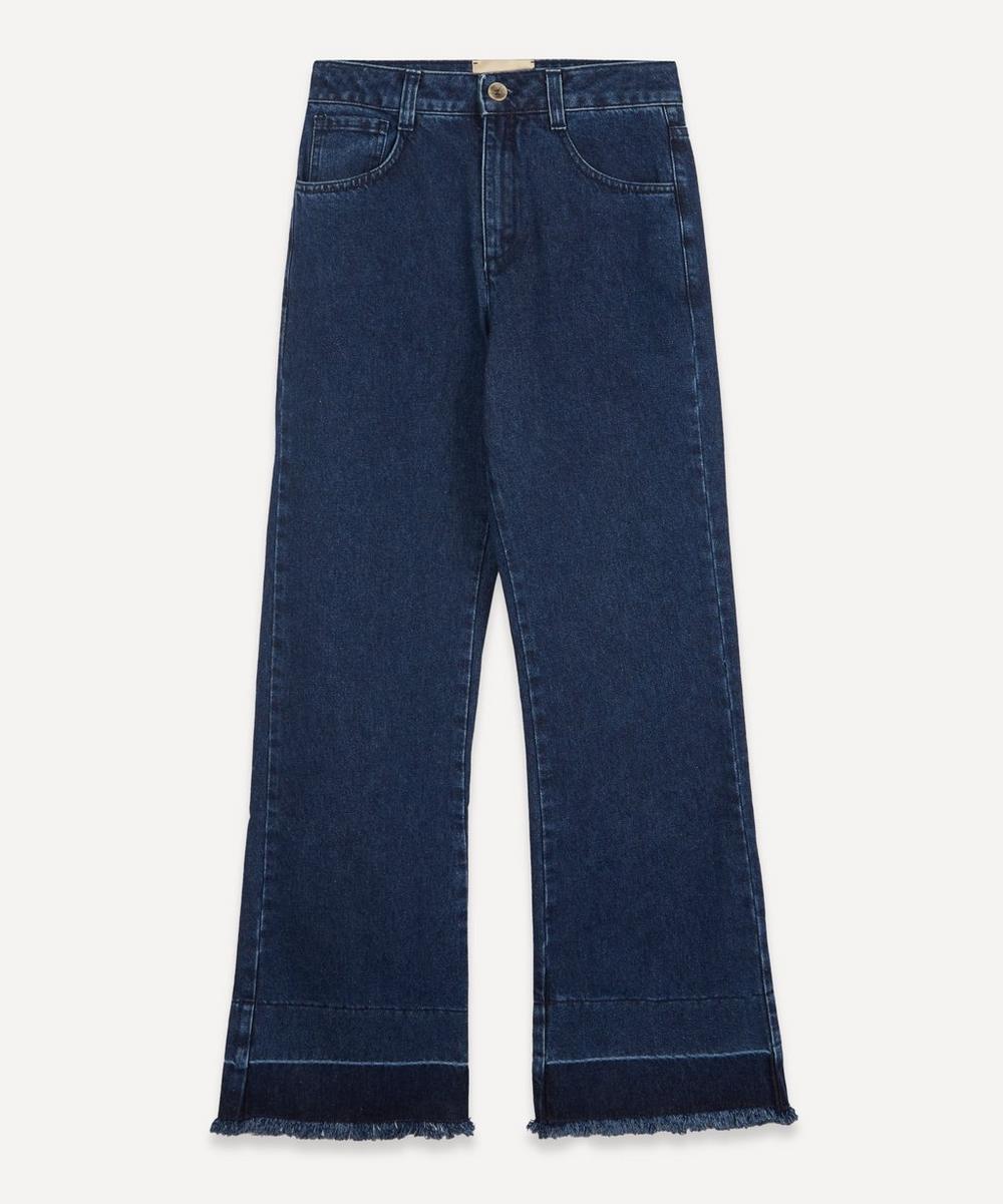 Paloma Wool - Marsala High-Waist Recycled Denim Trousers