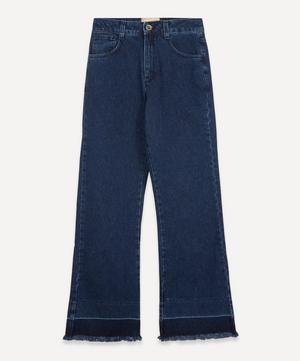 Marsala High-Waist Recycled Denim Trousers