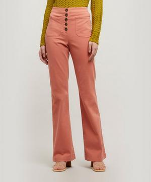 Margherita High-Waist Cotton Trousers