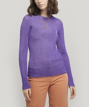 Teide Metallic Knitted Long Sleeve Top