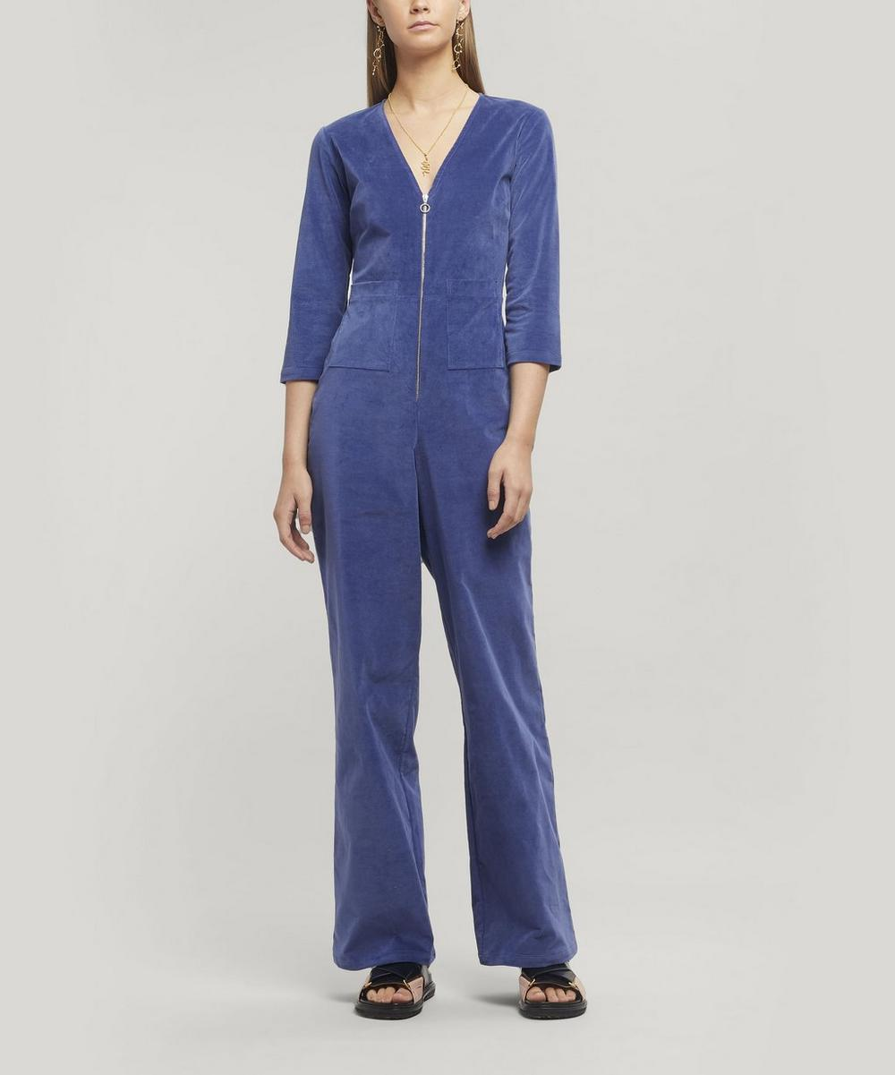 Paloma Wool - Isle Cotton Velvet Jumpsuit