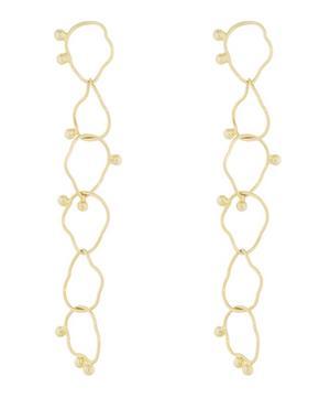 Gold-Plated Silver Loop Earrings