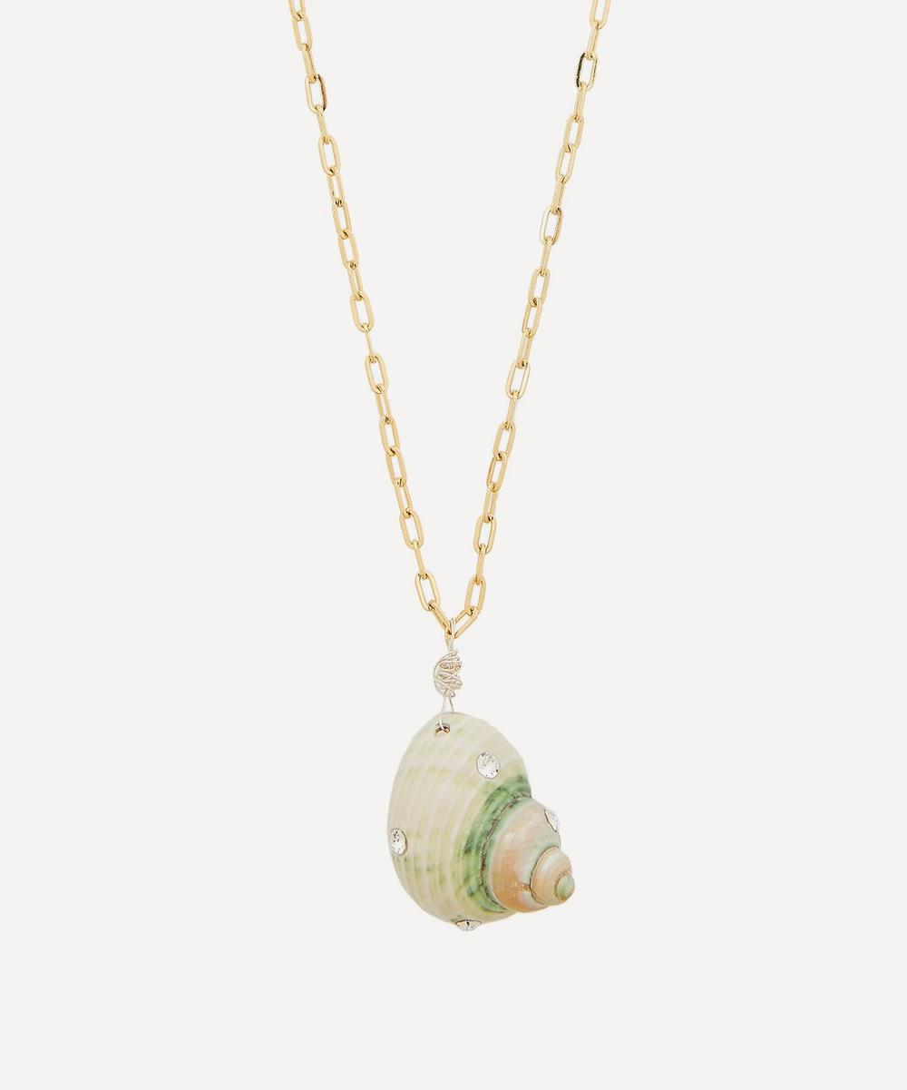 WALD Berlin - Gold-Plated Paris Paris Crystal Shell Necklace