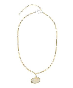 Gold-Plated Drop It Like It's Hot Pearl Shell Necklace