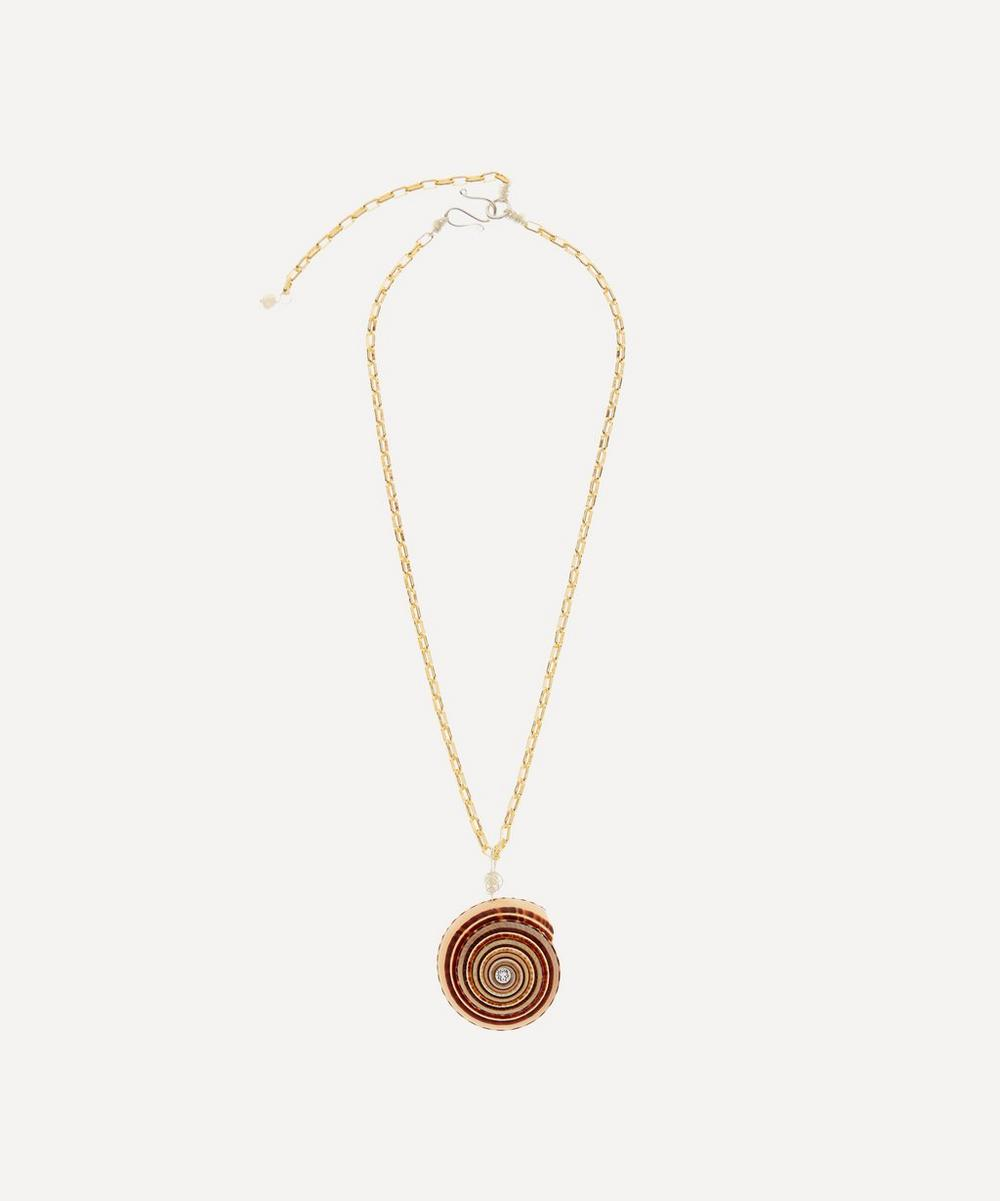 WALD Berlin - Gold-Plated Gin and Juice Crystal Shell Necklace