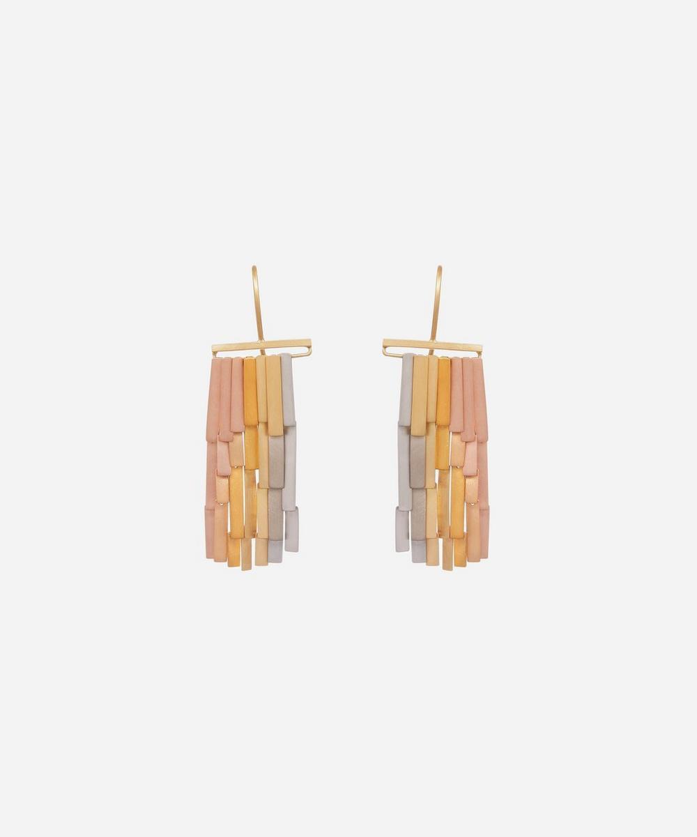 Sia Taylor - Gold Rainfall Drop Earrings