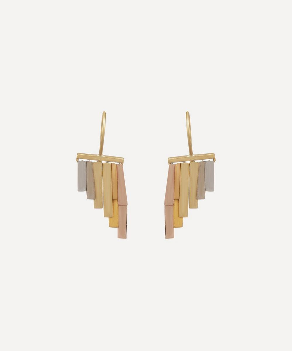 Sia Taylor - Gold Tiny Rainfall Drop Earrings