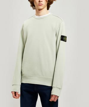 Washed Cotton Logo Patch Sweater