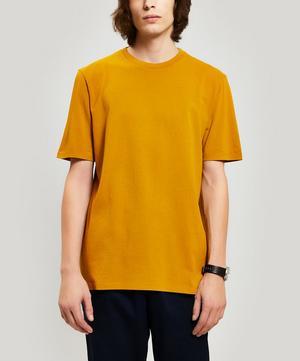 Contrast Sleeve Cotton T-Shirt