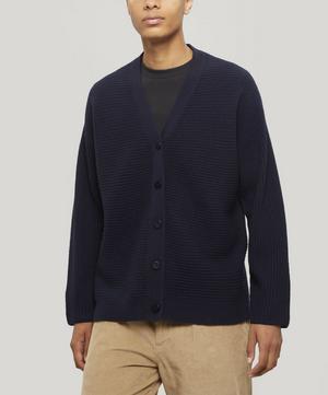 Signal Ribbed Wool Cardigan