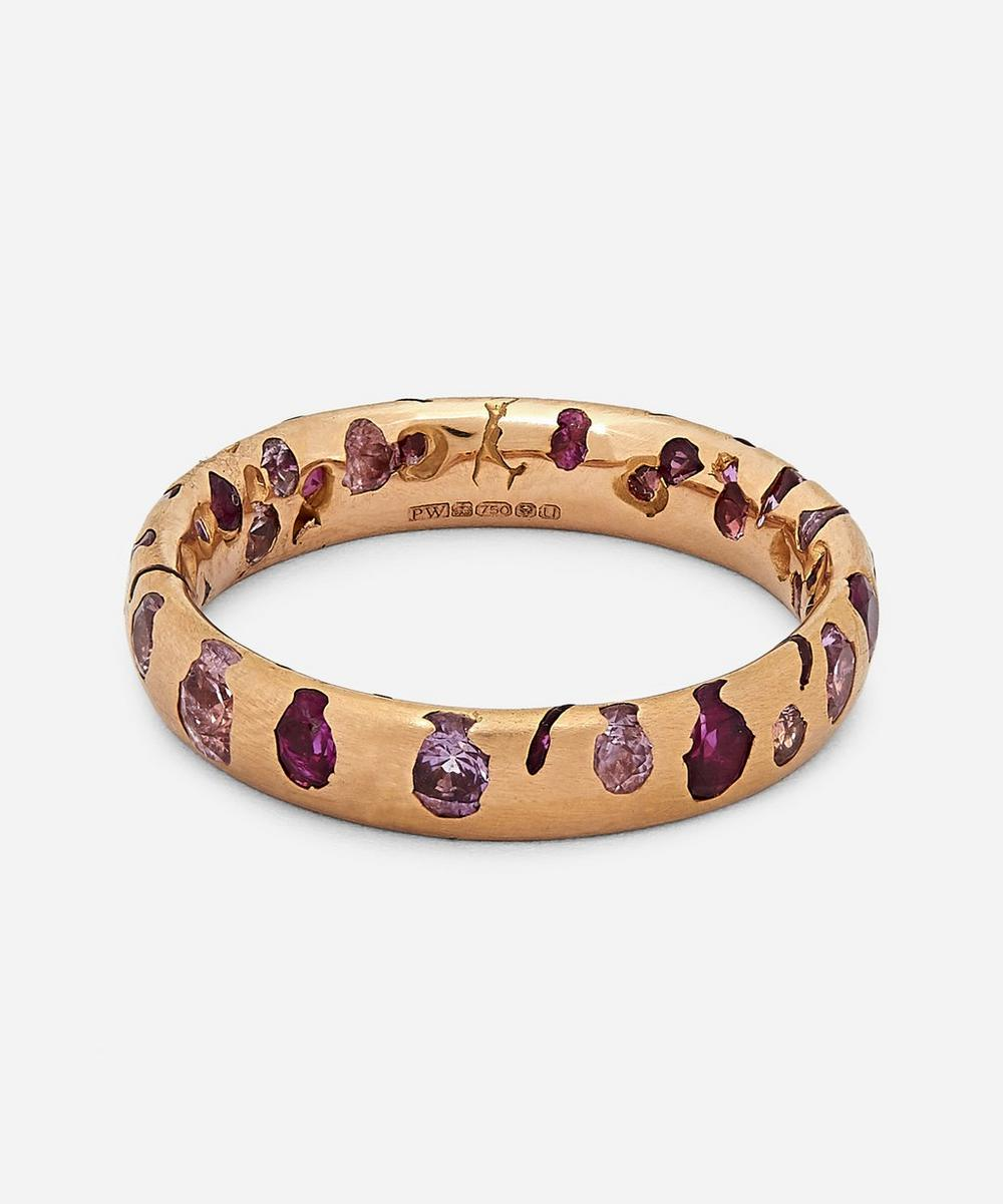 Polly Wales - Rose Gold Pink Sapphire Confetti Ring