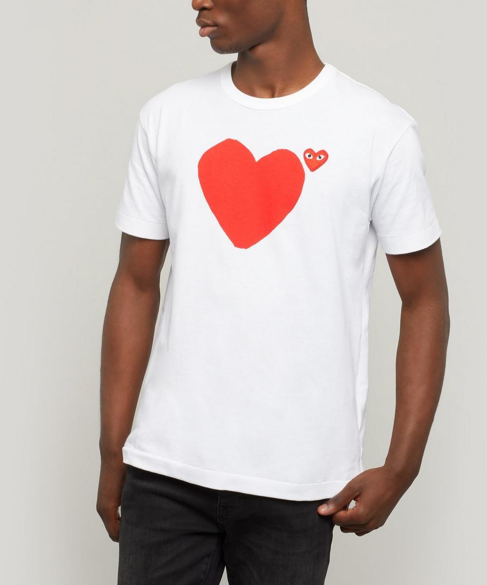 Comme des Garçons Play - Front Back Heart Logo T-Shirt