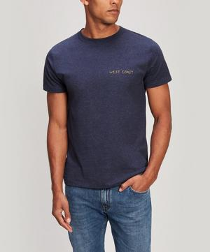 West Coast Embroidered Heavy Cotton T-Shirt