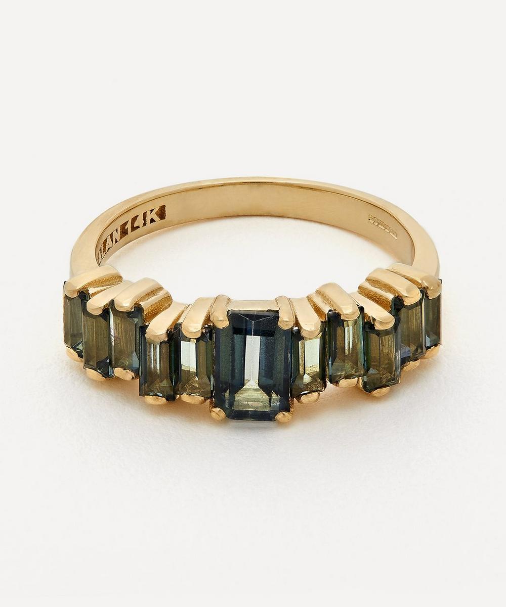 Suzanne Kalan - Gold Amalfi Emerald Cut Green Envy Topaz Ring