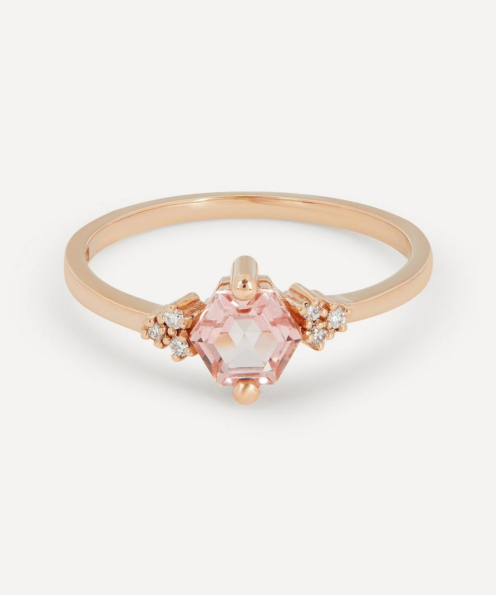 Suzanne Kalan - Rose Gold Morganite Topaz and Diamond Azalea Ring