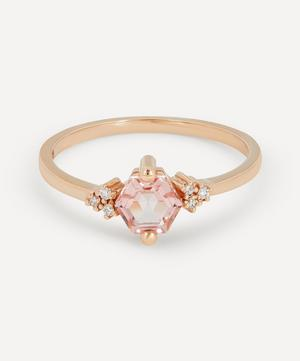 Rose Gold Morganite Topaz and Diamond Azalea Ring