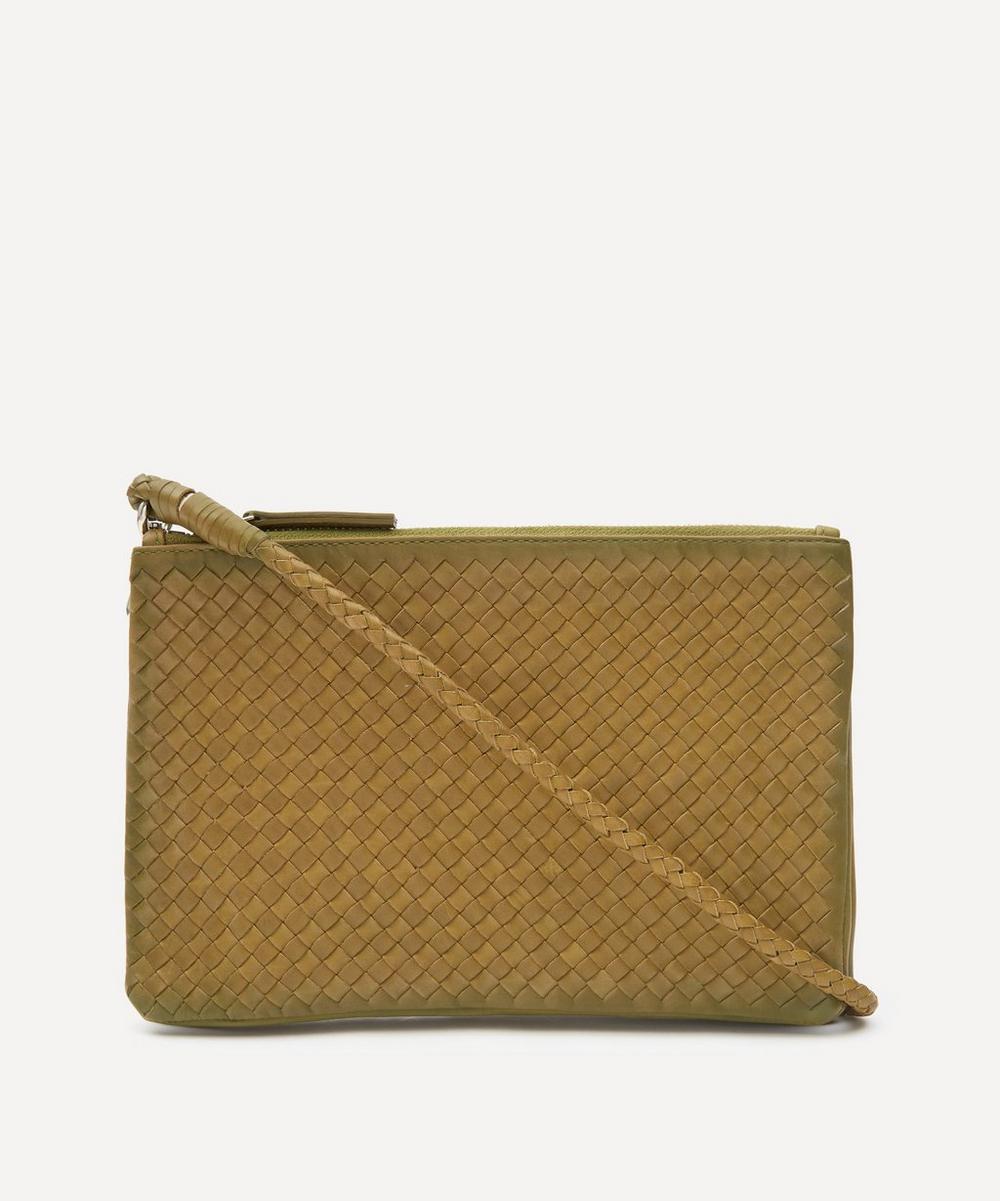 Dragon Diffusion - Interlaced Twin Pochette Woven Leather Cross-Body Bag