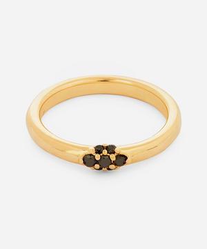 Gold Single Cluster Celestine Black Diamond Ring