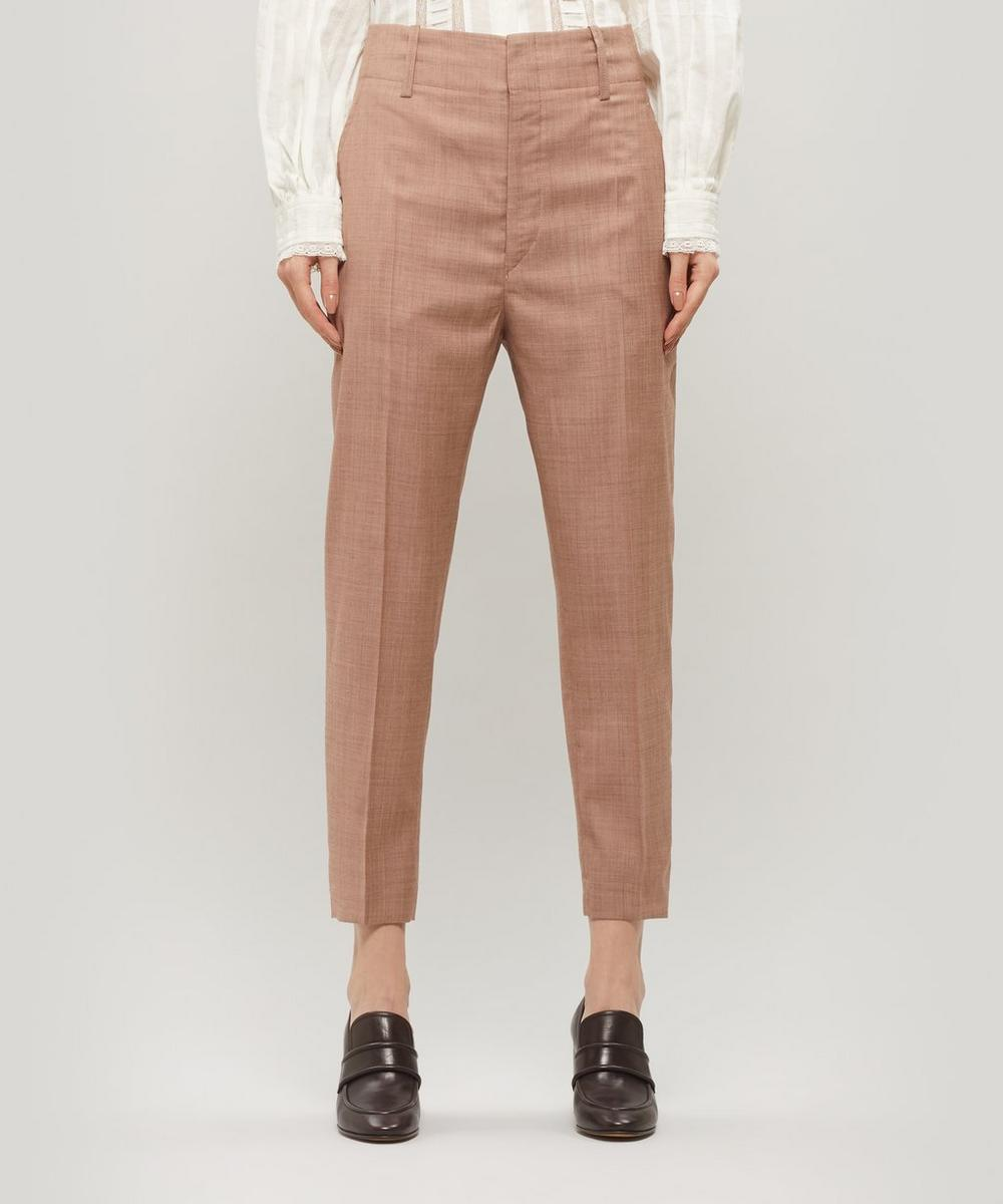 Isabel Marant Étoile - Noah Cropped Checked Wool Trousers