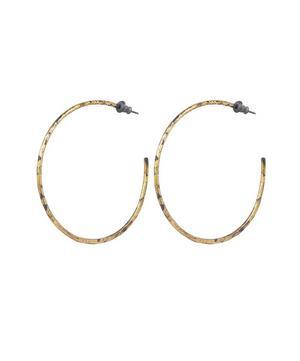 Oxidised Silver Large Sickle Hoop Earrings