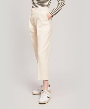 Market Linen and Cotton-Blend Trousers