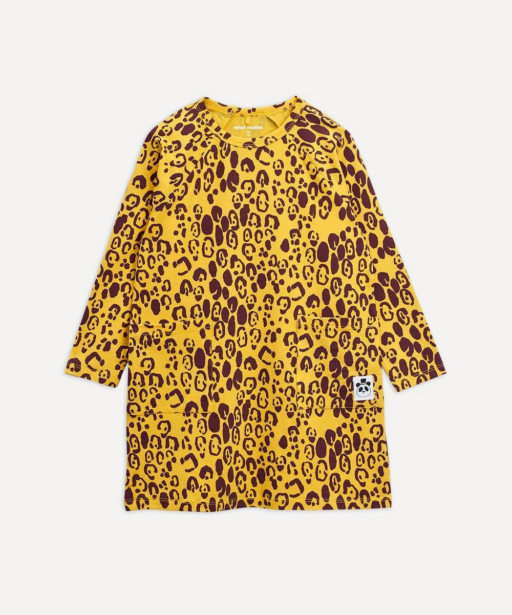 Mini Rodini - Leopard Long-Sleeve Dress 3-18 Months
