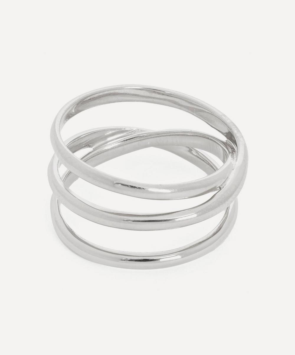 Maria Black - White Rhodium-Plated Emilie Wrap Ring