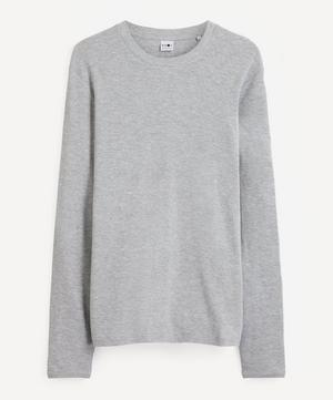 Clive Waffle Knit Mélange Cotton-Blend Long-Sleeve T-Shirt