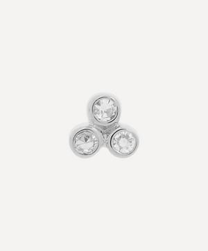 White Gold Triad Diamond Labret Earring