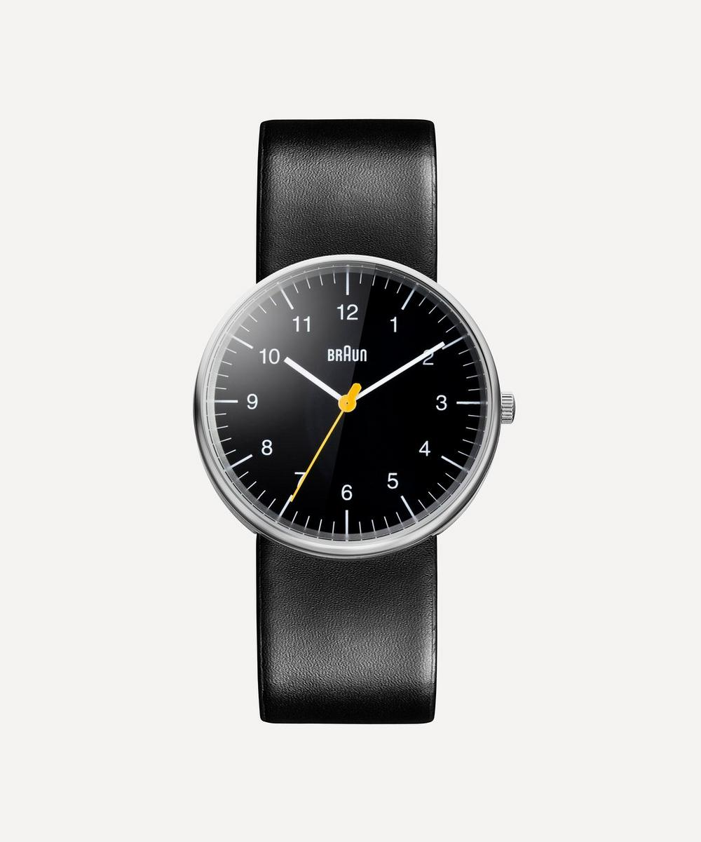 Braun - Classic Stainless Steel Leather Strap Watch