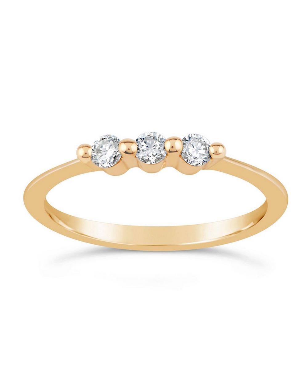 Dinny Hall - Gold Shuga Triple Diamond Ring