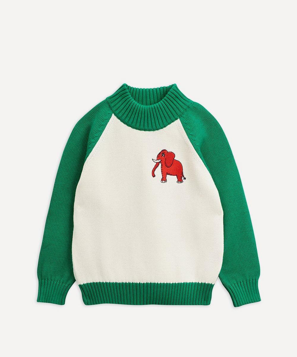 Mini Rodini - 4 Elephants Knitted Sweater 12-18 Months