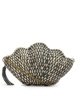 Jane Straw Shell Clutch Bag