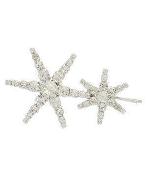 Silver-Tone Venus Crystal Star Bobby Pin