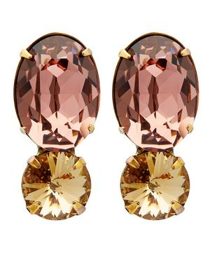Charissa Double Crystal Drop Earrings