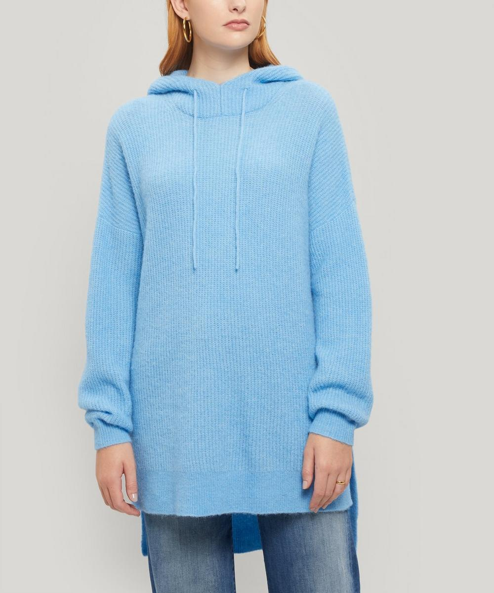 Ganni - Long Soft Wool Knitted Hoodie