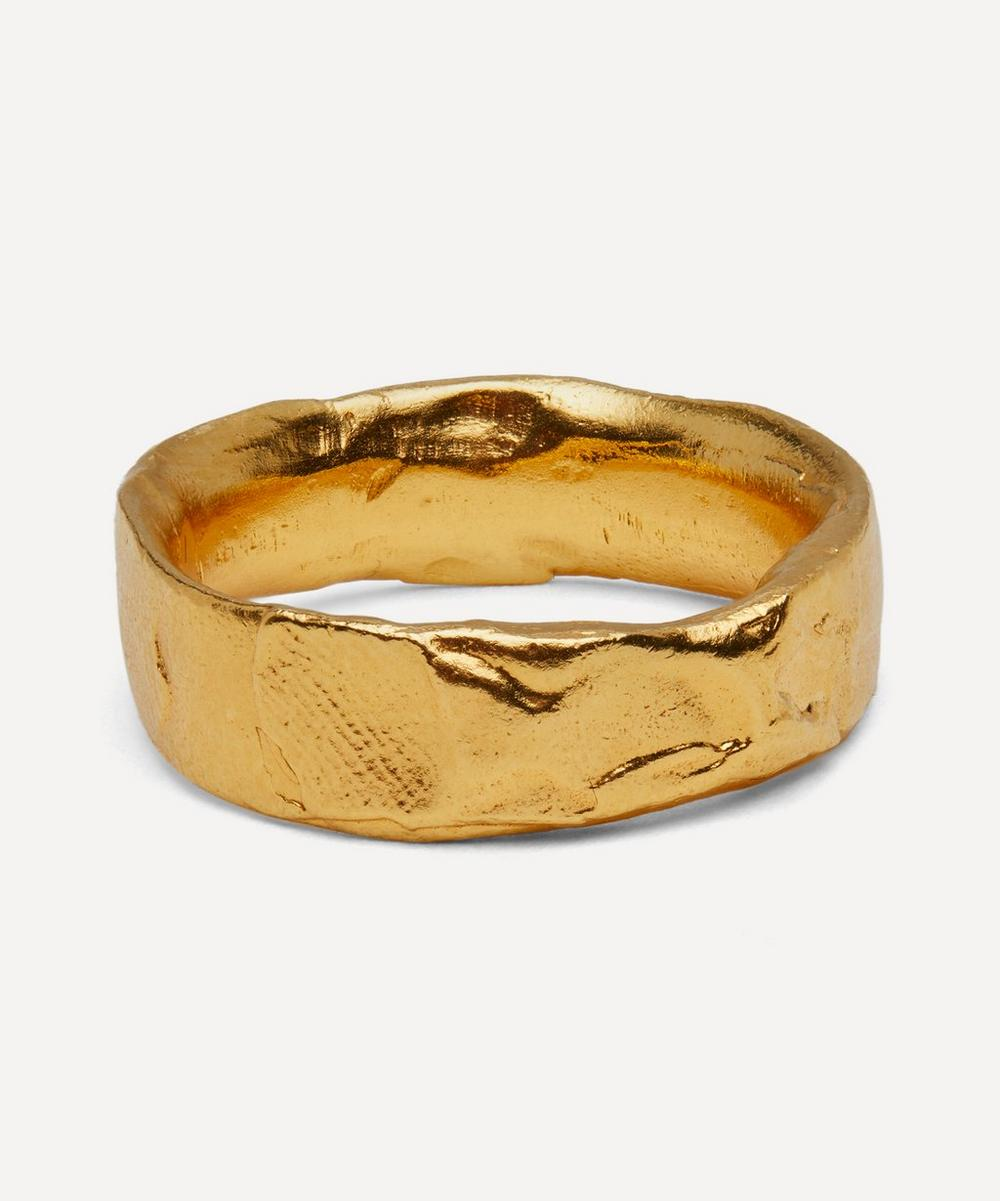 Alighieri - Gold-Plated Dante's Shadow Ring
