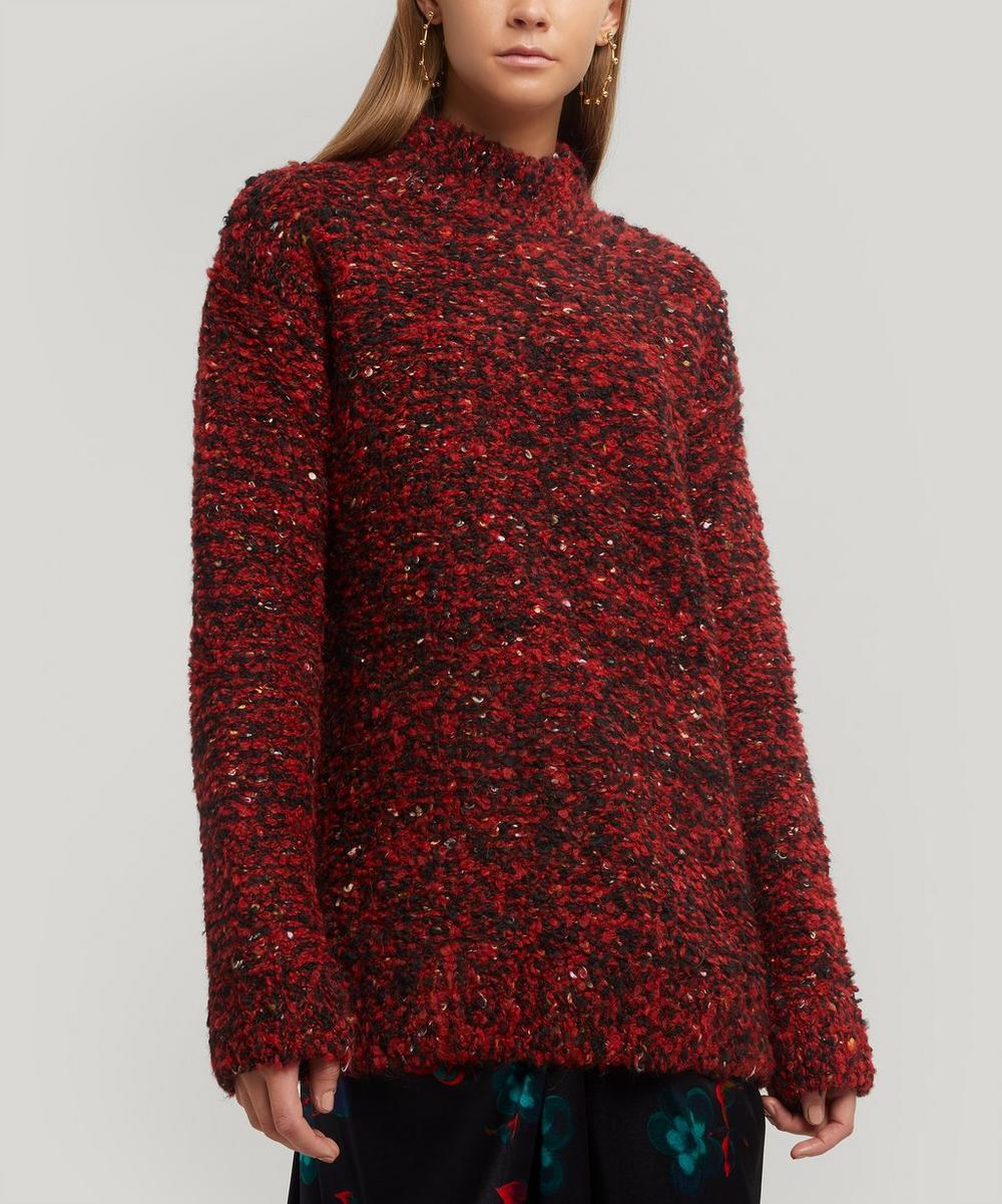 Ganni - Slub Knit Wool-Blend Jumper