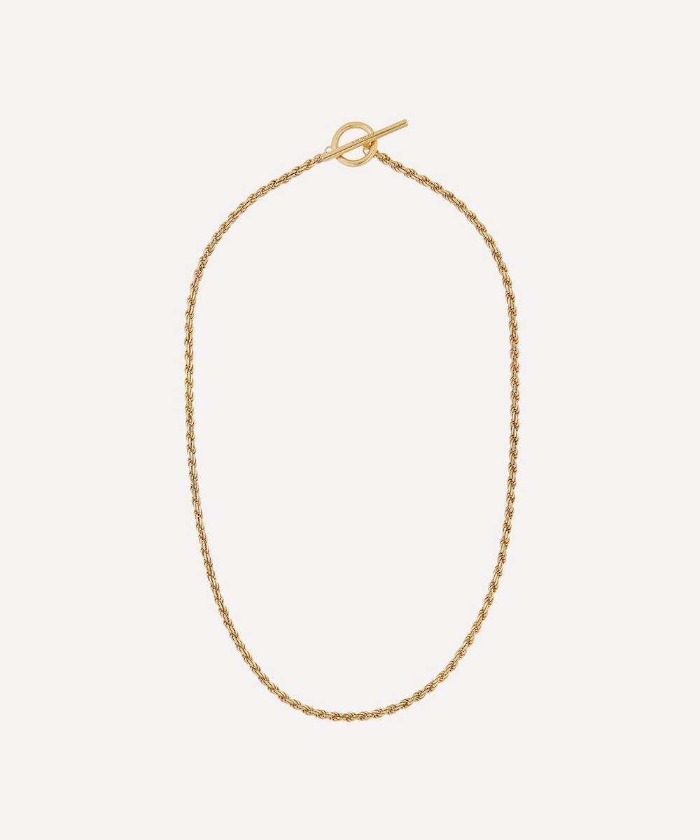 All Blues - Gold Plated Vermeil Silver Rope Necklace